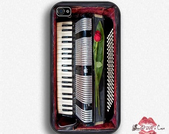 Accordion with Rose - iPhone 4/4S 5/5S/5C/6/6+ and now iPhone 7 cases!! And Samsung Galaxy S3/S4/S5/S6/S7