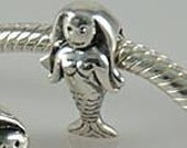 New Authentic SOLID 925 Sterling Silver MERMAID aquarius Bead, Big Hole, fit all popular brands of European Charm Bracelet, Zodiac Sea A31