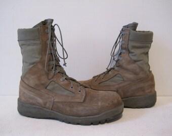 Men's Work Boots Trail Hunting Vibram Size 9.5 Brown Vintage BT249