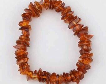 Baltic Amber Adult Bracelet - Cognac Color