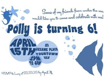 Underwater Birthday Invitation