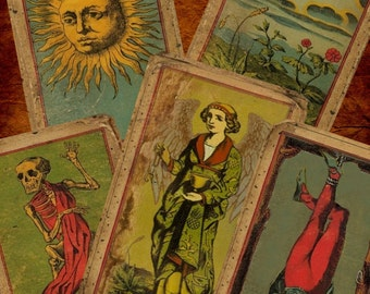 The Deck Of The Bastard - The Most Unique Vintage (looking) Tarot Deck You Will Ever Find