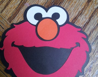 8 - Elmo Party Invitation-Sesame Street-Birthday- Party-Baby Shower-Gift Tag