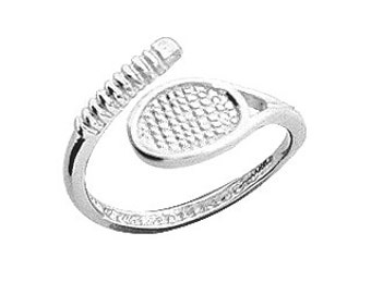 One size fits all sterling silver , Tennis Raquet Toe-Ring.