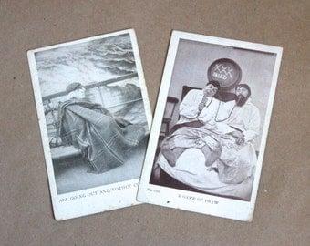 Vintage Funny Postcards Circa 1910's- Vintage Paper Ephemera