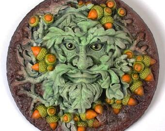 Green Man Plaque 'Quercus' Summer