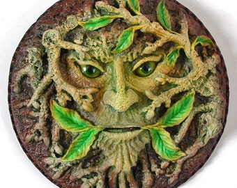 Green Man Plaque 'The Dryad' Summer