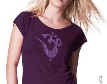 OM YOGA organic cotton and bamboo tee shirt