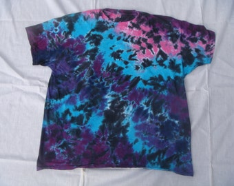 Youth Blues, Purples, and Black Tie Dye T-Shirt Sizes 2-16