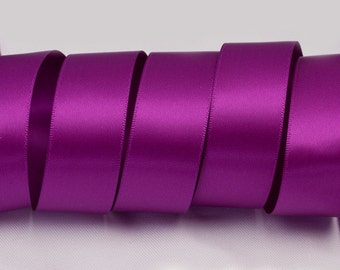 """Ultra Violet Purple Ribbon, Double Faced Satin Ribbon, Widths Available: 1 1/2"""", 1"""", 6/8"""", 5/8"""", 3/8"""", 1/4"""", 1/8"""""""