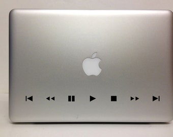 Macbook Decal remote control decal Macbook Stickers music laptop decal iPad decals for macbook 012