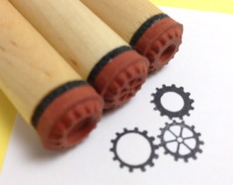 Steampunk Gears Rubber Stamp Set, gear stamps