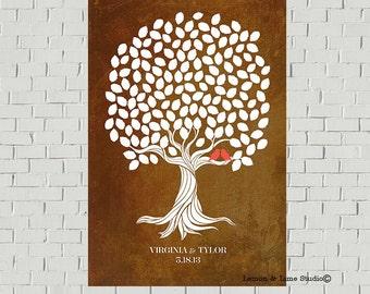 Oak Tree Guest Book Print - Wedding Guest Book - Wedding Poster - Guestbook Gift -  Wedding Art Print - Wedding Wish Tree - Wedding Gift