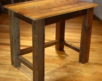 "32"" Reclaimed Barn Wood Rustic Heritage Writing Table"