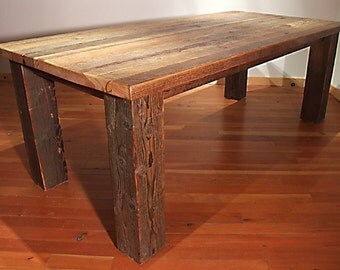 Reclaimed Wood Bunkhouse Dining Table