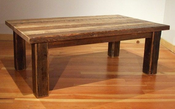 Reclaimed Barn Wood Rustic Heritage Coffee Table2