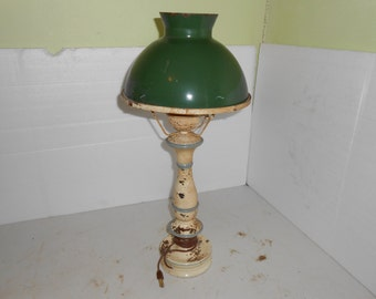 tin lamp and tin shade