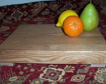 Cutting Board Footed Kitchen Tool Tiger Oak Reclaimed Beauty