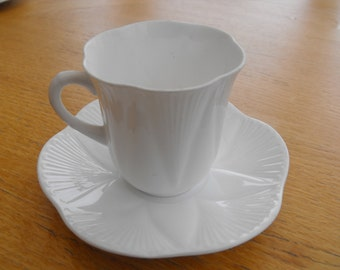 Teacup: Shelley Dainty White Cup and Saucer