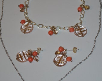Coral Jewelry Set