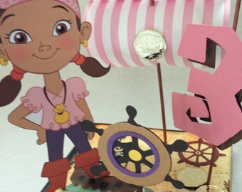 Custom Izzy from Jake and the Neverland Pirates Birthday Party Happy Birthday Banner for Coreen G