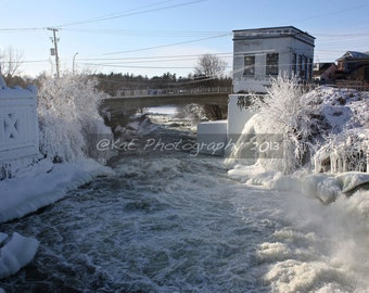 """Icy Cold Day At the Falls   5"""" x 7""""  Print"""