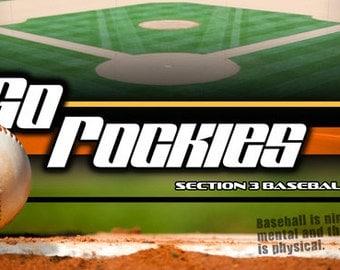 Baseball Sports Team Banner