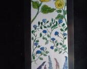 Laminated Flower bookmark...