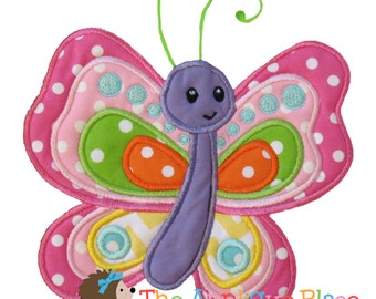 Beautiful Butterfly Machine Embroidery Applique Design