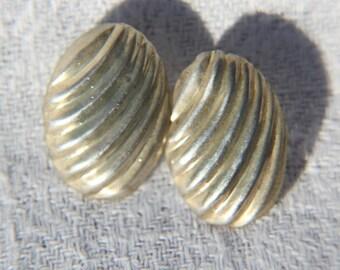 Vtg 50s Danish Silver Earrings