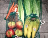 Produce Bags, Eco Friendly, Reusable, Shopping Bag, Fruits and Vegetables