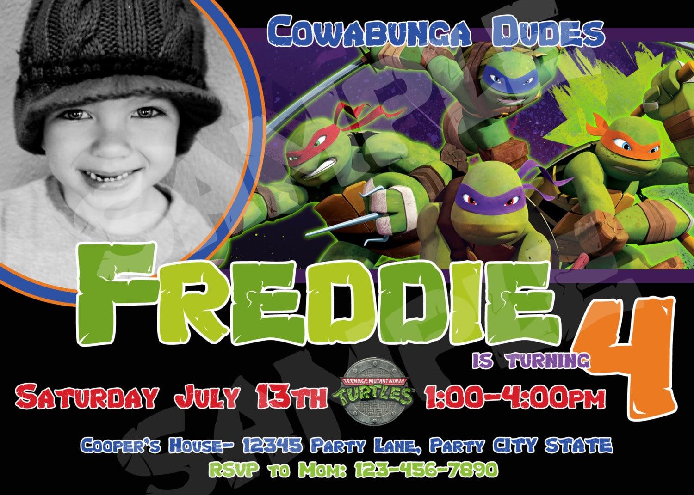 Teenage Mutant Ninja Turtle Invitations for adorable invitation example