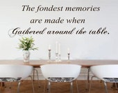 Gathered Around the Table Wall Decal