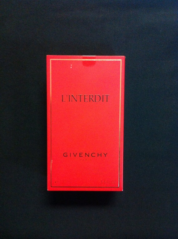 Vintage L'interdit By Givenchy For Women. Eau De Toilette Spray 3.3 Ounce.original red box