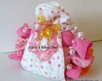 Diaper stork bundle | Baby Shower Gift | Baby diaper cake | New Baby Gift | Baby Shower Decoration | New mom gift | Stork bundle gift