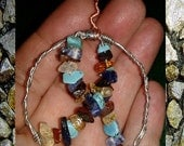 Autism awareness ribbon- Turquoise, Sodalite, Citrine, Red Tiger Eye -  S/H/ ins Included