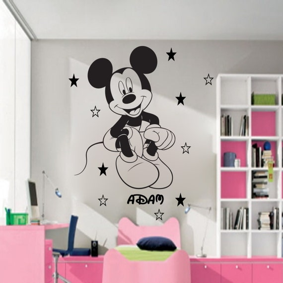 Items Similar To Disney Mickey Mouse Personalised Wall