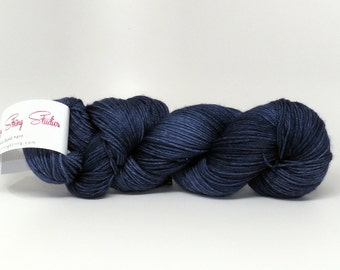 Nautical Navy - Stunning Superwash Fingering Weight - 100% Superwash Merino - 100 g - 475 yds