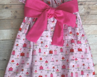 Girls pink skirt with sash