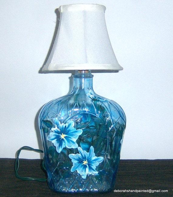 Items Similar To Crown Royal Bottle Lamp Blue White
