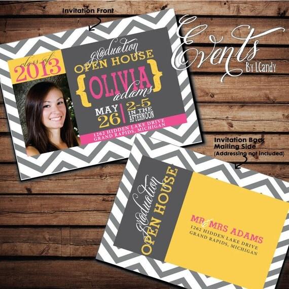 items similar to 2014 graduation open house invitation