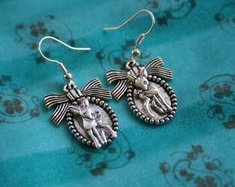 Sale Earrings, Deer Earrings,  Deer Jewelry, Cameo Earrings / Deer Jewelry / Kawaii Deer Jewelry / Deer Earring / D020