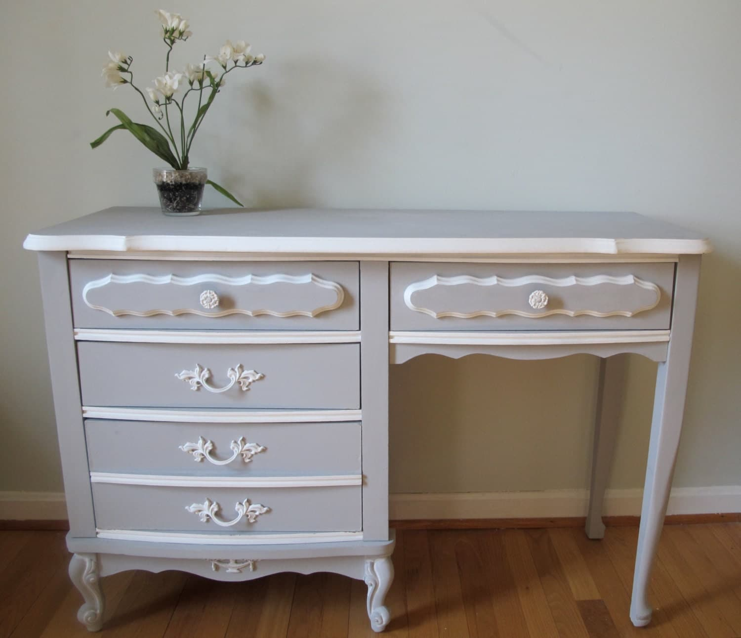 Hand painted french provincial desk - Painted french provincial bedroom furniture ...