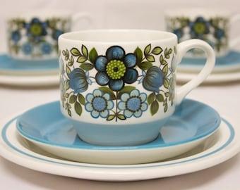 Retro Vintage Midwinter Romany Trio - Staffordshire (cup, saucer & tea plate)