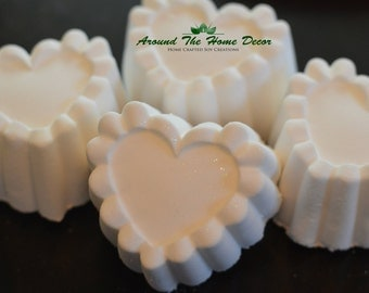 """Ruffled Heart """"Naked"""" Bath Bomb, Choose Your Scent. Dye-Free Bath Fizzy."""