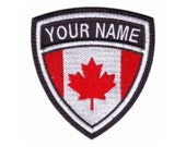 Canada Custom Crest Flag name Embroidered Sew on Patch