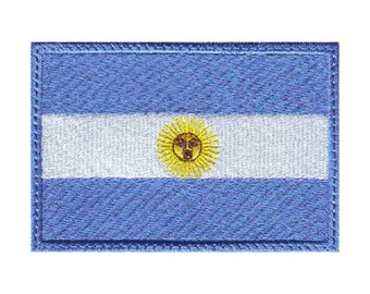 Argentina Flag Embroidered Patch