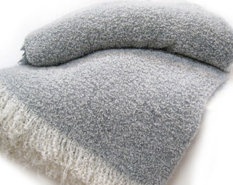 Wool & Angora Mohair Blankets, Beautiful Oversize King / Queen, Luxurious Blend All Natural Blanket
