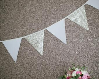 Wedding Bunting, Gold Bunting, Sequin Bunting, Wedding Decor, Wedding Decoration, Long Bunting, Wedding Banner, Wedding reception