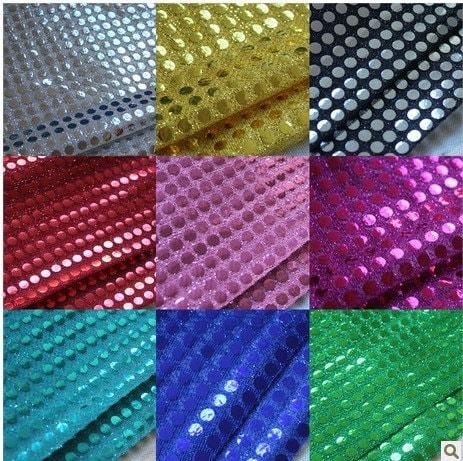 10yard wholesale 100cm width sequin fabric mesh back fashion for Paillette decoration